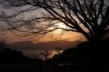 夕陽差す公園